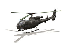 Helicopter. Computer image, helicopter 3D, isolated white background Royalty Free Stock Photos