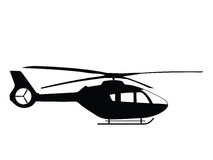 Helicopter. Silhouette a helicopter, vector illustration