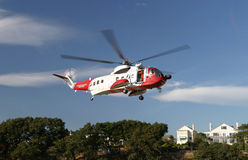 Helicopter. Coastguard rescue helicopter taking off Royalty Free Stock Photography