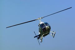 Helicopter. Flying helicopter Stock Photo