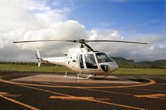 Helicopter. On a landing pad Royalty Free Stock Photo