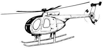 Helicopter. Illustration of a helicopter Royalty Free Stock Image