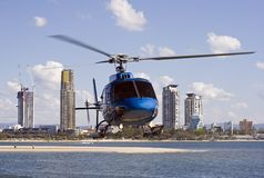 Helicopter. Landing Royalty Free Stock Images