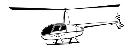Helicopter abstract lines vector logo.Vector illustration. Helicopter logo abstract lines Vector illustration Stock Photography
