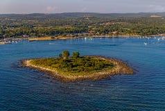 Adriatic landscape - small island Royalty Free Stock Photo