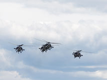 Helicopter aerobatic team Golden Eagles Royalty Free Stock Images
