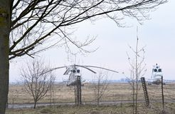 Helicopter at the aerodrome. A close up royalty free stock photo