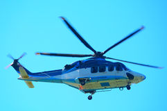 Helicopter. Agusta westland helicopter in flight royalty free stock photography