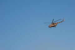 Helicopter in the air Royalty Free Stock Photography