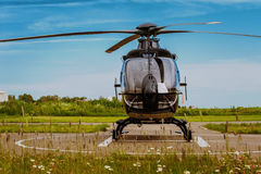 The helicopter in airfield Stock Image