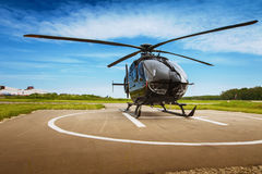 The helicopter in airfield Royalty Free Stock Image