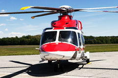 Helicopter on the airfield Royalty Free Stock Photo