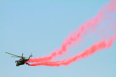 Helicopter on the airshow Royalty Free Stock Photo