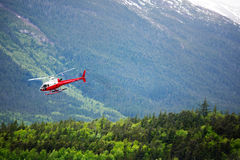 Helicopter in Alaska wilderness Royalty Free Stock Photos