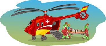Helicopter ambulance Stock Images