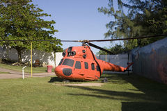 Helicopter at Arecibo Lighthouse and Historical Park Stock Photos