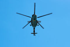 Helicopter Armed Forces of Ukraine flew over the area Stock Photography