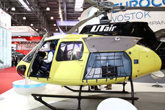 Helicopter AS 350 Franco-German company EUROCOPTER Royalty Free Stock Photos