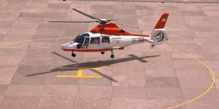Helicopter as a taxi Royalty Free Stock Photography