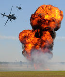 Helicopter attack Royalty Free Stock Photo