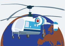 Helicopter aviation Royalty Free Stock Photography
