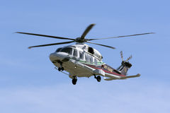 Helicopter back from an oil rig Stock Photography