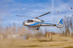 Helicopter Baikal Stock Photography