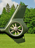 Helicopter blade in detail Royalty Free Stock Images