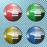 Helicopter button,icon, sign, 3D illustration Royalty Free Stock Photos