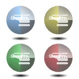Helicopter button,icon, sign, 3D illustration Royalty Free Stock Photo