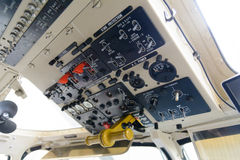 Helicopter cabin command Royalty Free Stock Image