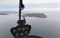 Helicopter Cabin North Head Stock Image