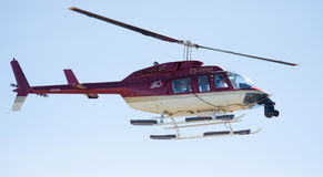 Helicopter with camera on nose Royalty Free Stock Photo