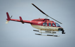 Helicopter with camera on nose Royalty Free Stock Photos