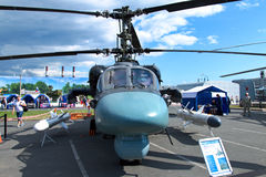 Helicopter Capsule KA-52. International Maritime Defence Show. 1-5 July 2015. Russia. Saint Petersburg Royalty Free Stock Image