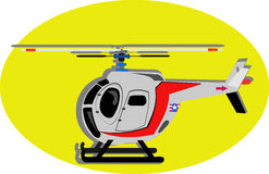 Cute Helicopter Cartoon. Cute vehicle clip art theme Stock Photos