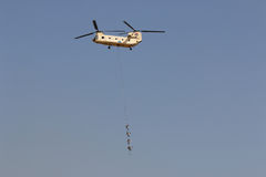 Helicopter CH-47 at the airshow in Cairo.  Egypt.  Stock Photography