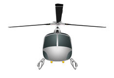 Helicopter with chassis and blades. Vector illustration eps 10 isolated on white background. Royalty Free Stock Photography