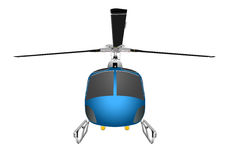 Helicopter with chassis and blades. Vector illustration eps 10 isolated on white background. Royalty Free Stock Photos