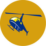 Helicopter Chopper Flying Circle Retro Stock Photo