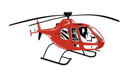 Helicopter Chopper Retro stock video footage