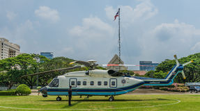 Helicopter at Chulalongkorn University Stock Images