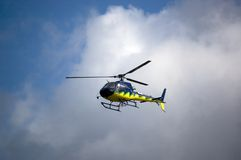 Helicopter in a cloud Royalty Free Stock Photography