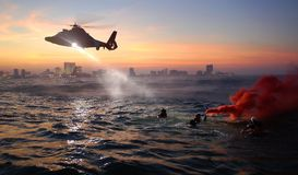 Helicopter, Coast Guard Stock Image