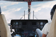 Helicopter cockpit royalty free stock images