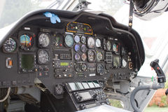 Helicopter cockpit Royalty Free Stock Photo