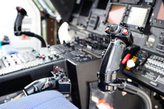 Helicopter cockpit Stock Images