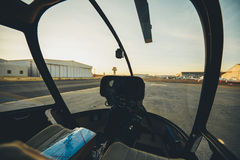 Helicopter cockpit with instrument panel Royalty Free Stock Images