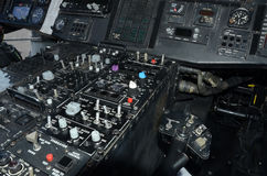 Helicopter cockpit instrumentation Royalty Free Stock Photo