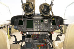 Helicopter cockpit - Puma SA-330M royalty free stock image